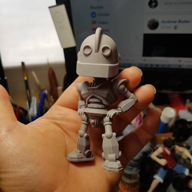сложный робот создан 3D принтером Wanhao Duplicator 8 (D8)