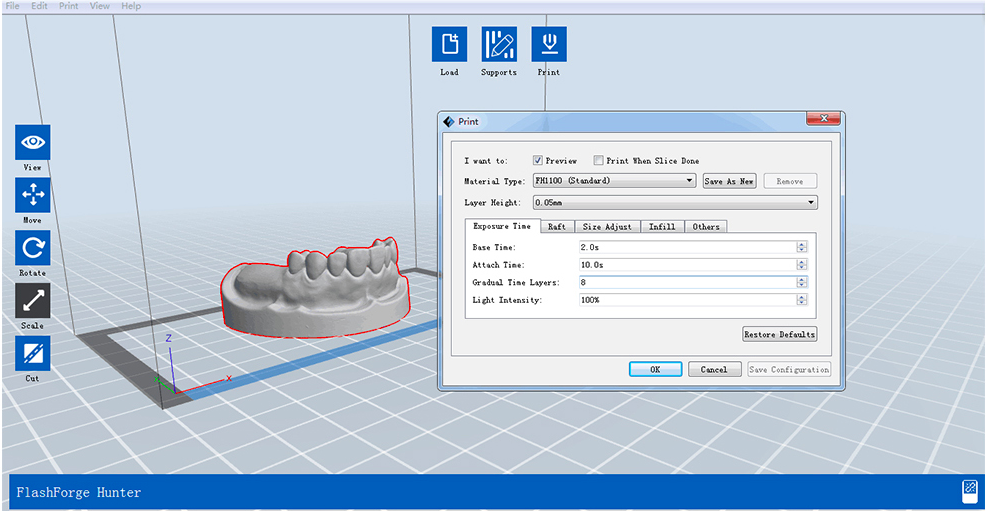 3D принтер FlashForge Focus Dental