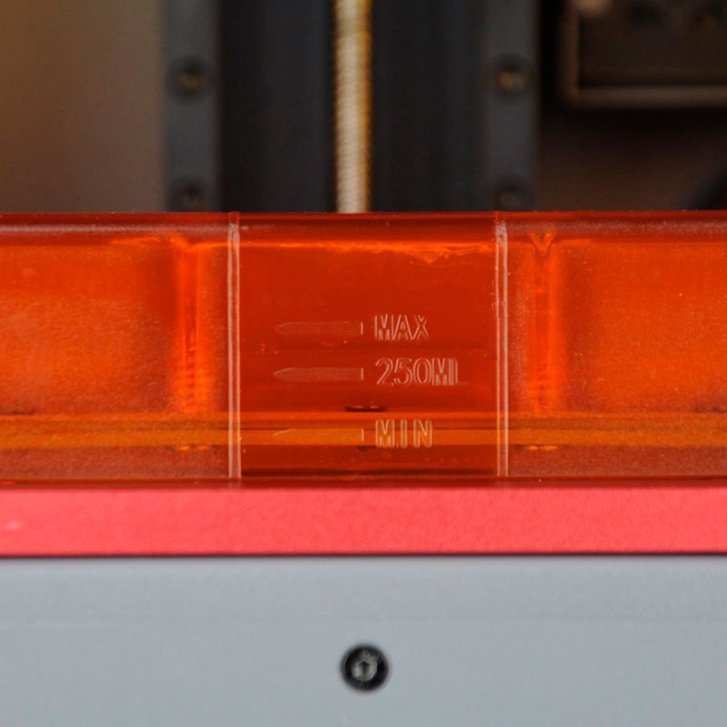 у притера Wanhao GADOSO REVOLUTION 1 появилось полупрозрачное окно оранжевого цвета