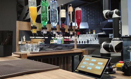 Точность робота-бармена Rozum robotics