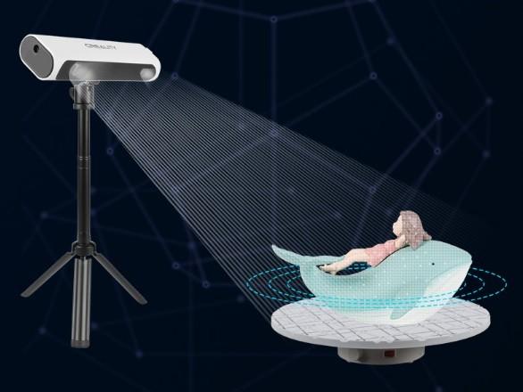 Режим поворотного стола 3D-сканера Creality CR-Scan 01