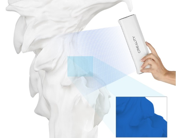 Сканирование крупных объектов 3D-сканером Creality CR-Scan 01