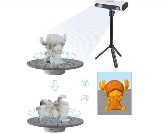 Автовыравнивание 3D-сканера Creality CR-Scan 01