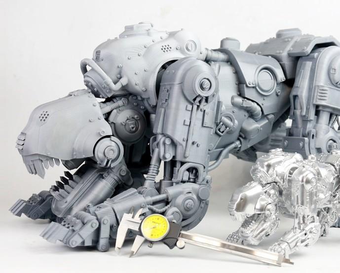 сложный робот, напечатанный на 3D принтере Duplicator серии D12