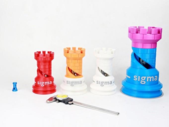 игрушки для детей в виде замков принцесс, распечатанные на Duplicator D12